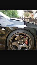 POLISHED Bonnet Raisers Mitsubishi Lancer Evo 123456789 SRS COLT LEGNUM TURBO