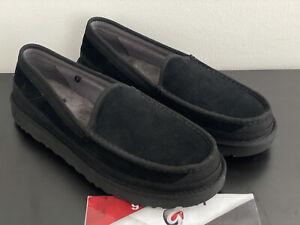 "UGG Australia DEX Slippers 1103901 ""Black"" Men's Size 11 Suede Slippers Loafer"