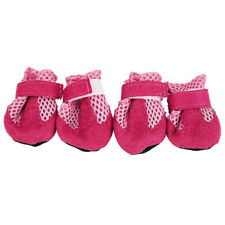 Anti Slip Unisex Pet Dog Waterproof Shoes Protective Rain BOOTS BOOTIES Sock Pink M