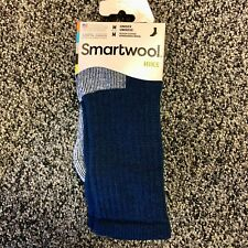 NEW Smartwool Mens Hike Merino Wool Crew Socks - Medium Cushion - Blue - Medium