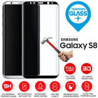 For Samsung Galaxy S8 3D Full Cover Curved Tempered Glass Screen Protection
