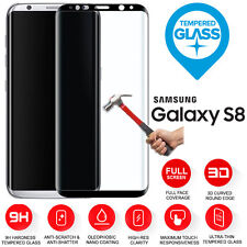 Samsung Galaxy S8 3D Full Curved Tempered Glass LCD Screen Protection Black