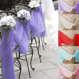 33FT/10M Sheer Organza Fabric Wedding Party Table Bow Swags Decoration