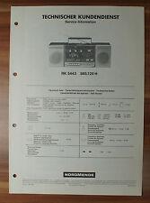 Radio-Cassettenrecorder RK5443 985.129H Nordmende Service Manual Serviceanleitun