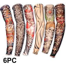 6 x Tattoo Ärmel Tattoo Skin Stulpe Strümpfe Tattoostrümpfe Kostüm Halloween