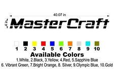 "MasterCraft Hull Decal 4""x40"""