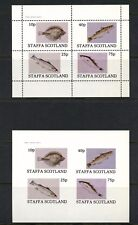 Staffa Scotland - local issue   fish marine  PERF & IMPERF sheets  MNH  L464