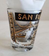 Vintage San Francisco Black Gold Souvenir Shot Glass