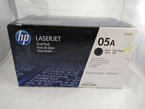 *NEW* HP 05A CE505D Dual Pack OEM Genuine Black Laserjet Toner Cartridge