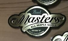 One Pearl Drums Masters SST Maple Shell Badge with mounting screws Used