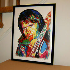 Glen Campbell, Guitar, Vocals, Singer, Actor, Country, Pop Music, 18x24 Poster