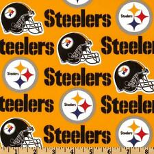"""100% Cotton Fabric Pittsburgh Steelers 58"""" Wide NFL Licensed Sold BTY 6336"""