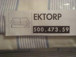 Ikea Ektorp Cover for 2-Seat Sofa Loveseat ORLUNDA Striped Slipcover Cotton NEW
