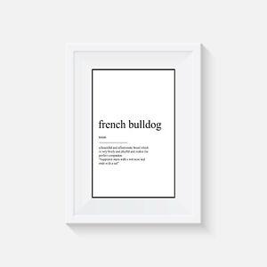 French bulldog definition, print, poster, dog, wall art, gift, dog, home