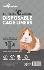 Paw Inspired Disposable Guinea Pig Cage Liners Pee Pads for Small Animals