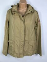 WOMENS ROXY LIFE CHESTNUT ZIP UP LIGHTWEIGHT UTILITY COAT WITH HOOD SIZE 4