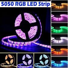 16ft 5M 300Leds 5050 RGB Led Strip Bright Flexible Lights Lamp Tape DC 12V HOT