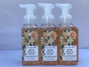 3pcs Bath and Body Works Warm Vanilla Sugar Gentle Foaming Hand Soap 8.75 floz