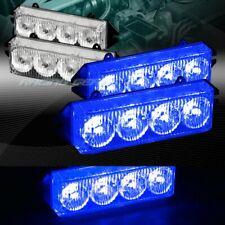 16 LED BLUE CAR EMERGENCY HAZARD WARNING GRILLE FLASH STROBE LIGHT UNIVERSAL 6