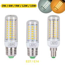 3W 6W 9W 12W 15W E14 E27 LED SMD Mais Leuchtmittel Glühbirne Birne Licht Lampe