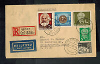 1953 Leipzig East Germany DDR Cover to USA karl Marx Wilhelm Pieck