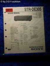 Sony Service Manual STR DE305 Receiver  (#2517)