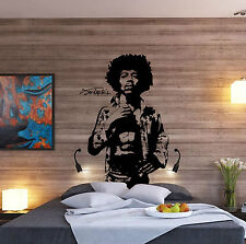 Large Jimi Hendrix Body Rock Guitar Legend Free Squeegee Vinyl Decal Sticker Art