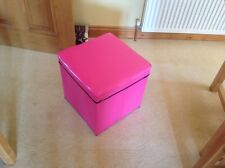 Cerise Pink Toy Box / Storage Stool