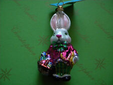 Christopher Radko Easter Bunny Time Glass Ornament