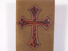 Leather Cross Sewn On Cowboy Western Checkbook Cover Wallet Billfold Checkbook