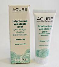 New Acure Brightening Vegetable Peel Chlorella + Kale Normal to Dry Skin 1.4 oz