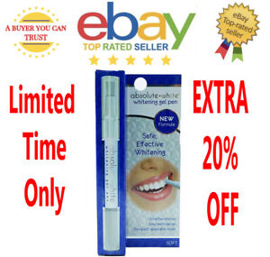 1 x Absolute White Instant Tooth Whitening Pen Remove Stains Whiten Your Teeth