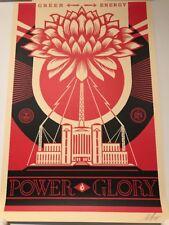 Shepard Fairey OBEY * FIRMATO * GREEN POWER STAMPA GIGANTE