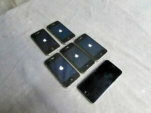 Lot of Six Iphones Model 4S/6, 8/16GB Verizon Black Cell Phones