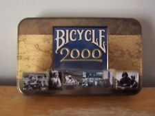 BICYCLE 2000 DOUBLE DECK PLAYING CARDS WITH COLLECTABLE TIN - VERY GOOD