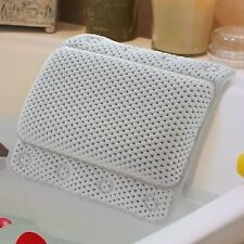 Taylor & Brown Non-Slip White Cushioned Bath Pillow Slip-resistant Suction Cups