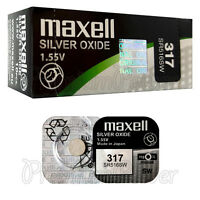 2 x Maxell 317 Silver Oxide batteries 1.55V SR516SW D317 SR62 0% Mercury Watches