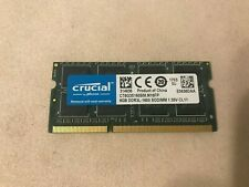 8 GB (8 GB x 2) Crucial DDR3L-1600 PC3L-12800S Laptop RAM SO-DIMM Quick Ship