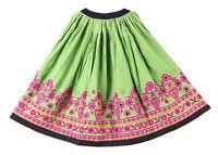 Indien Femmes Kutch Brodé Taille Jupe Coton Long Ghaghra Banjara Jupe