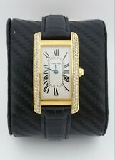 Cartier Tank Americaine 1720 18K Karat Yellow Gold & Diamond Watch
