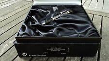 Montblanc Boheme Crystal Platinum Plated Roller Ball Nuova Garanzia da Timbrare