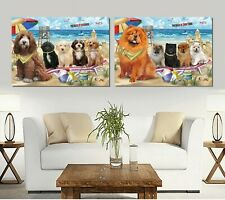 Pet Friendly Beach canvas Wall Art Decor, Dogs, Cats, Pet photo canvas