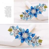 Wedding Women Barrette Flower Rhinestone Crystal Hair Clips Hair Accessories