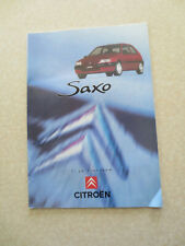 1996 / 1997 Citroen Saxo automobile advertising booklet - Finnish