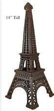 "Cast Iron Eiffel Tower Votive / Tea Light Candle Holder 14"" Tall  - Rustic"