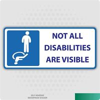 Not All Disabilities Are Visible Sticker - Disabled Self-Adhesive Vinyl