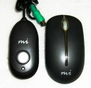 Micro PD950P WIRELESS OPTICAL MOUSE, PS2 Receiver, Software CD, Tested & Working