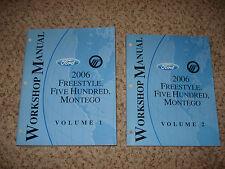 2006 FORD FREESTYLE 500 MERCURY MONTEGO SHOP MANUALS SERVICE BOOKS REPAIR