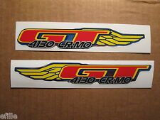 NOS BMX GT 4130 CR MO Wing fork decals stickers chrome