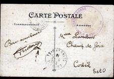 PLOERMEL (56) FRANCHISE MILITAIRE 1° REGIMENT d'ARTILLERIE LOURDE en 1916